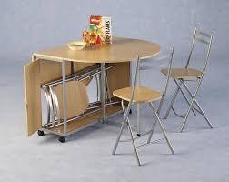 Kitchen Tables For Small Areas Portable Oval Double Drop Leaf Kitchen Table For Small Spaces With