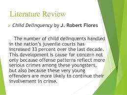 juvenile crime essayliterature review  juvenile delinquency     essays