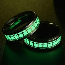 Online Shop <b>Eleple Titanium Stainless Steel</b> Luminous Rings for ...