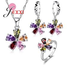<b>New Arrival</b> Woman Jewelry Set <b>925</b> Sterling Silver Necklace ...