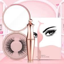 <b>Magnetic Liquid</b> Eyeliner False <b>Eyelashes</b> Tweezer <b>1Set</b> Waterproof ...