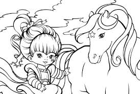 Small Picture Rainbow Brite Coloring Pages 50 Collections for You Gianfredanet