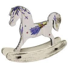 <b>Фигурка декоративная Лошадка Лаванда</b>, 20х18см, белый, дерево