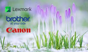 Весенняя мешанина с Brother, Canon, <b>Lexmark</b>!