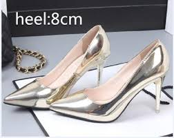 Spring <b>Autumn Women</b> Pumps Sexy Gold Silver High Heels Shoes ...