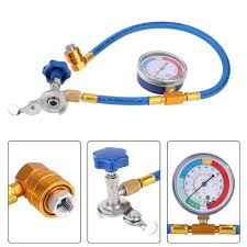 60cm <b>R134a Refrigerant Measuring</b> Hose Gauge Fluoride Tool Kit ...