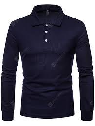 Men Large <b>Size Fashion</b> Casual Solid <b>Color</b> Lapel Long Sleeve T ...