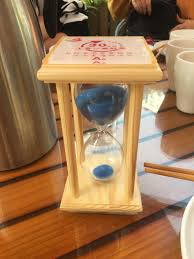 This restaurant gives you an <b>hourglass when you</b> order. If your food ...