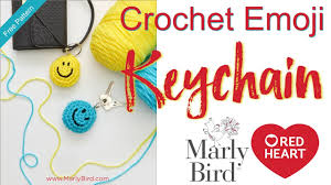 How to Crochet Beginner Smile <b>Emoji Keychain</b> - YouTube