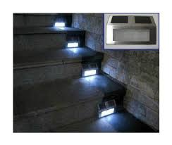 wholesale solar energy stair lamp led solar powered step light for outdoor using 50pcslot free shipping application lamps staircase