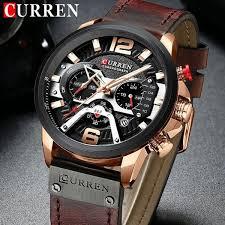 <b>CURREN 8329</b> Luxury Brand <b>Men Fashion</b> Leather Sports Watches ...