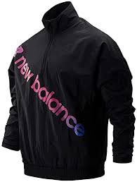 New Balance Mens <b>Sport Style Optiks</b> Windbreaker in Black- Pull ...