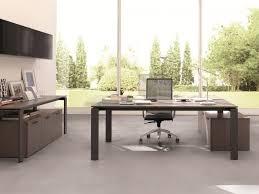 modern l shape metal office bright home office design