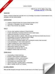 Dental assistant, Resume and Dental on Pinterest Dental assistant resume sample.
