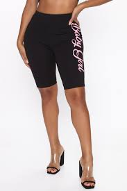 <b>Love My Baby Girl</b> Biker Short - Black/Pink, Shorts | Fashion Nova