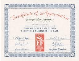personal vit aacute  2009 certificate of appreciation