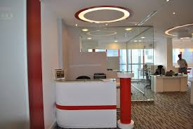 office false ceiling fetching design ideas of office interior with rectangle shape engaging white red colors blue office room design