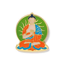 Tibetan Buddha Enamel Pin | Buddha, <b>Famous</b> artwork, Color pop