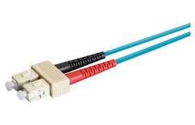 <b>Patch Cord SC</b>-<b>Duplex</b> PC, beige - <b>LC</b>-<b>Duplex</b> PC, beige/turquoise ...