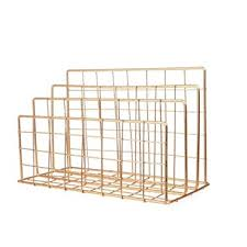 JHEY <b>Grid</b> Wrought Iron bookshelf Desktop <b>Storage Rack</b> Magazine ...