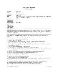 resume housekeeping resume duties housekeeping resume duties template