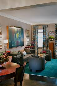 design ideascaptivating turquoise curtains design and carpet also wood floor and brown couch pillows captivating side table