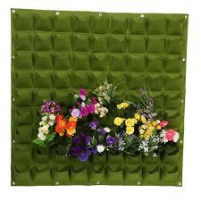 2 Colors 81 Pockets Vertical <b>Felt</b> Garden <b>Plant Growing</b> Container ...
