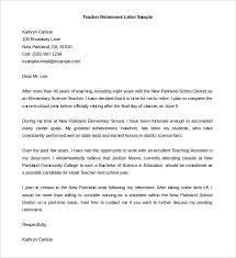 editable teacher retirement letter template sample word resignation retirement letter