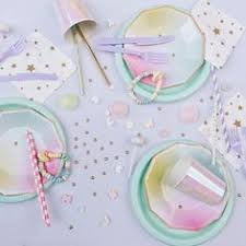 Iridescent Paper <b>Party Plates</b> - <b>New</b> In - <b>Party Supplies</b> | Leana ...
