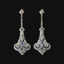 Solid <b>925 Sterling Silver Vintage</b> Victorian Style Dangle Earrings ...