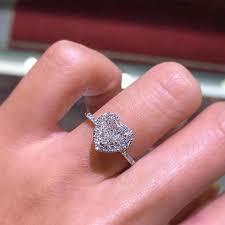 <b>Hollow Heart Shaped</b> Women's Ring For Couple Fashion Infinity ...
