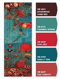 paint colors from chip it by sherwin williams love the real teal for living room wall along with the red for accent colors and kitchen wall colors amazing living room color