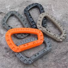 2pcs/set Link <b>Carabiner Climb Clasp Clip</b> Hook Backpack Molle ...