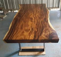 wood slab dining table beautiful: dining table reclaimed solid slab acacia wood extremely by flowbkk