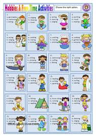 hobbies and time activities anglès student hobbies and time activities