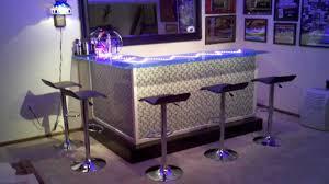 my custom bar with glass top and led lighting bar top lighting