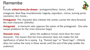 take notes especially think about post its mind maps scribbled remembe r critical terms for drama include critical terms for drama protagonist hero
