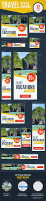 images about advertising and magazine layout ideas on multipurpose travel vacations web ad banners