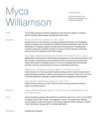 resume myca williamson