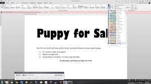 microsoft essential word lab puppy flyer microsoft 2013 essential word lab 1 puppy flyer