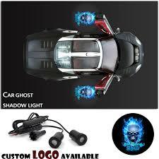 2x Logo Blue Skull Laser Projector <b>Car</b> Door Step <b>Led Welcome</b> ...