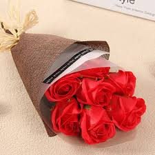 <b>7PCS</b> Valentine's Day Rose <b>Soap Flower</b> Cleaning Supplies ...