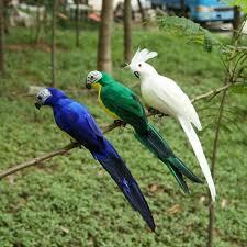 1pc <b>Creative</b> Foam Feather <b>Artificial Parrots Imitation</b> Bird Model ...