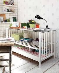 diy home office furniture ideas upcycle baby cot reuse desk glass top diy home office desk recycled