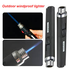 <b>1pcs Portable Outdoor</b> Jet Flame Butane Gas Refill Lighter Welding ...