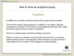 how to write an analytical essay  essay examples   searching for essay examples