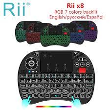 Beste Koop Originele <b>Rii X8 2.4 Ghz</b> Air Mouse I8x RGB 7 Kleuren ...