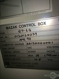 mazak quick turn 6g cnc lathes used good 393555 machinetools com mazak control box mazak tooling