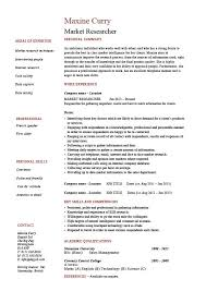 market research resume  example  sample  researcher  interview    market research resume