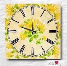 <b>Часы</b> Apolena <b>Yellow Flowers</b> Россия-Турция 40х40 см Дерево ...